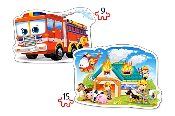 2-puzzles-forme-brigade-des-pompiers-en-action