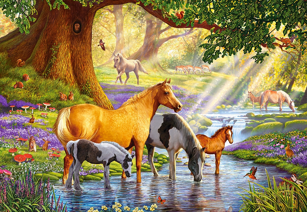 horses-by-the-stream
