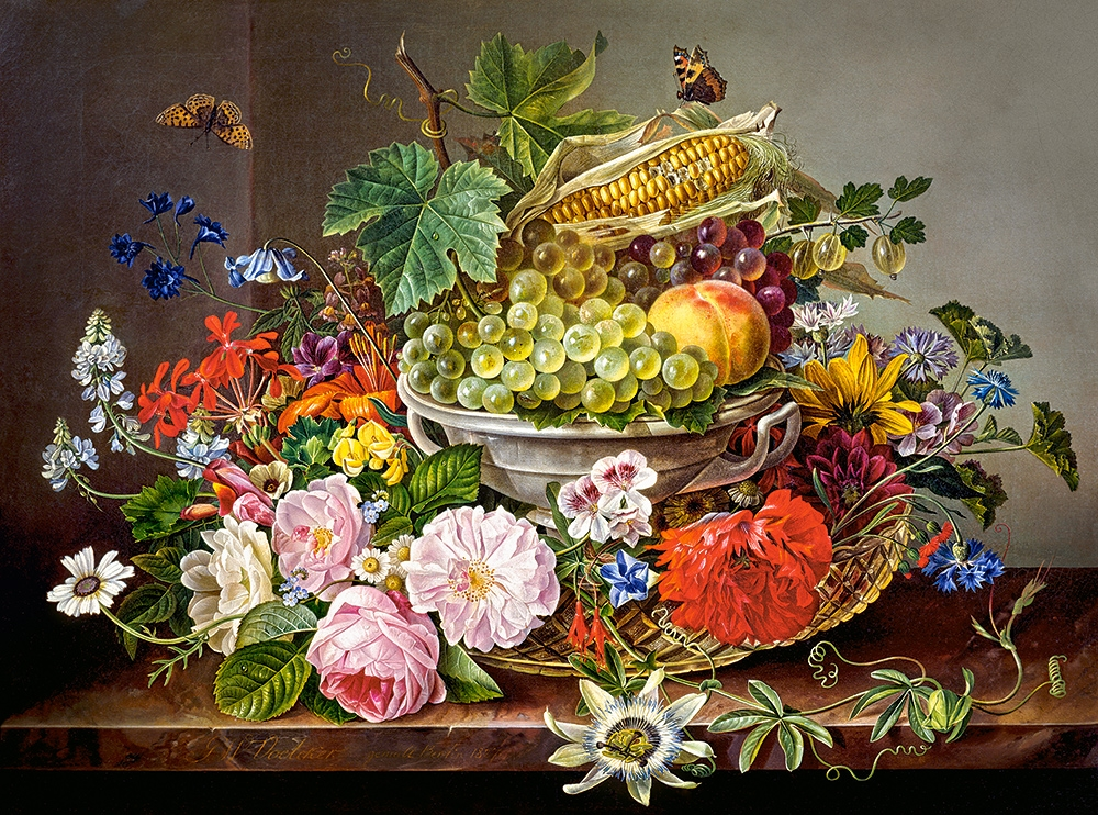 still-life-with-flowers-and-fruit-basket