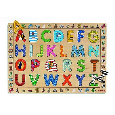 Encastrement 26 pièces en bois : ABC