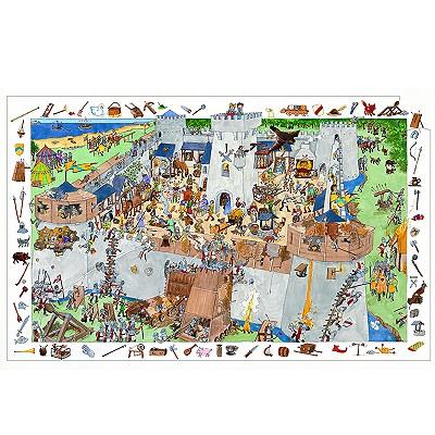 Poster et jeu d`observation : Château fort