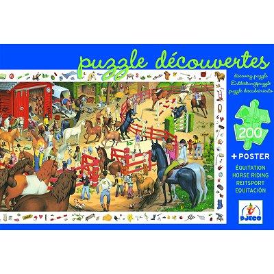 Poster et jeu d`observation : Equitation