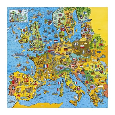 Carte Europe Puzzle | casamagenta