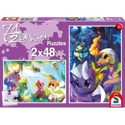 2 puzzles : 7 1/2 dragons