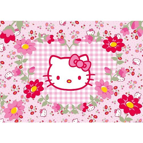 puzzle-geant-hello-kitty-fleurs