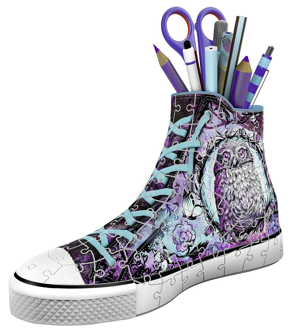 puzzle-3d-pot-a-crayons-sneaker-animal-trend