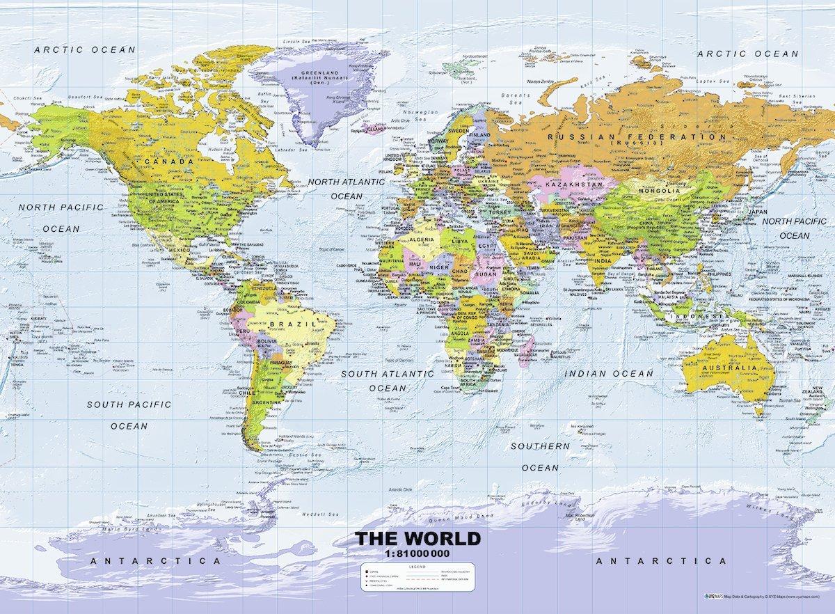 carte-du-monde-politique-en-anglais