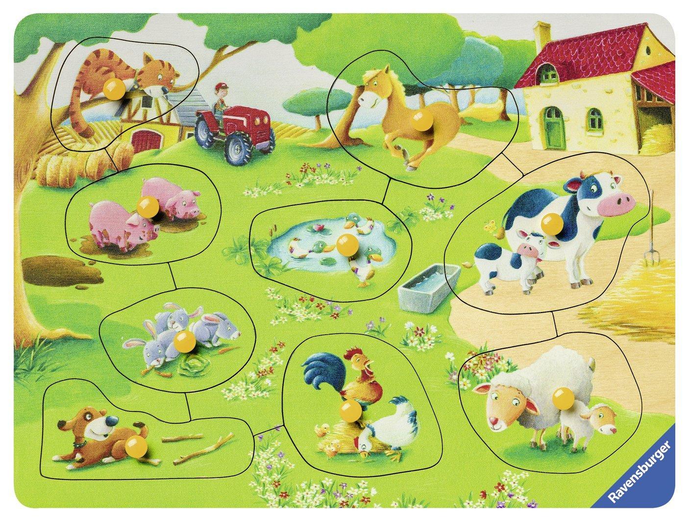 puzzle-en-bois-animaux-de-la-ferme, 10.95 EUR @ go