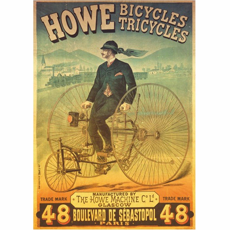 poster-vintage-howe-bicycles-et-tricyles