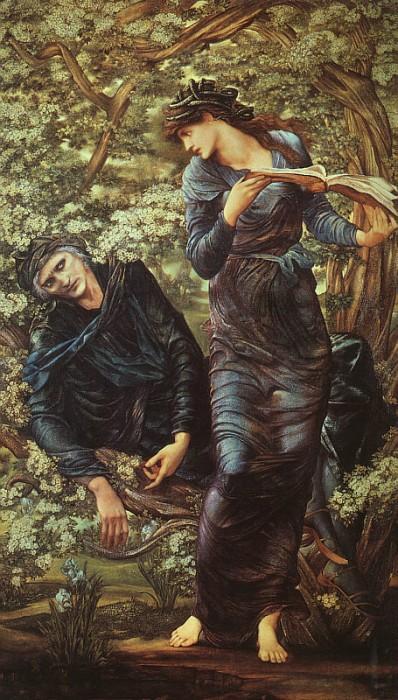 edward-burne-jones-la-seduction-de-merlin-1872-1877