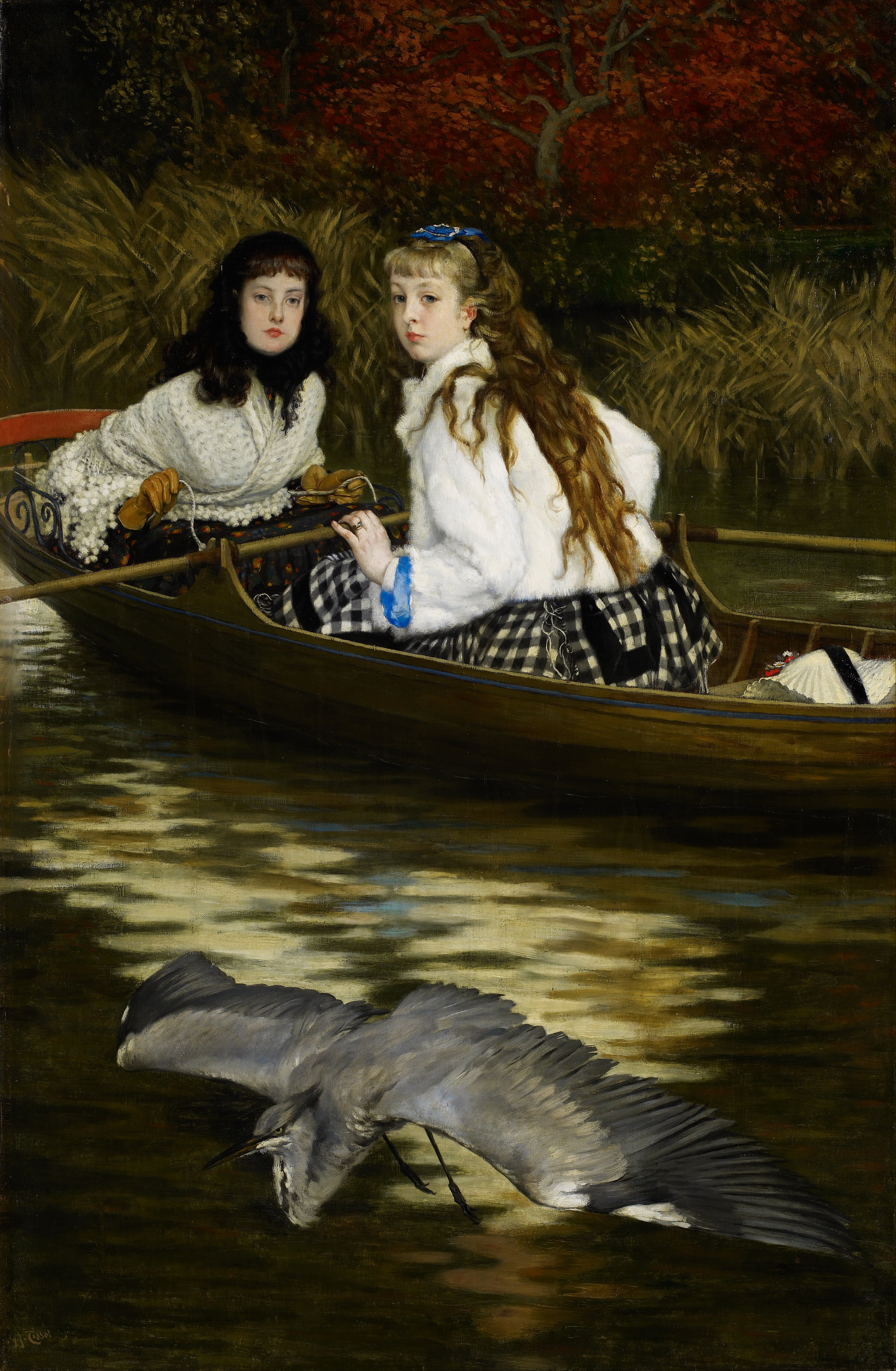 james-tissot-on-the-thames-a-heron