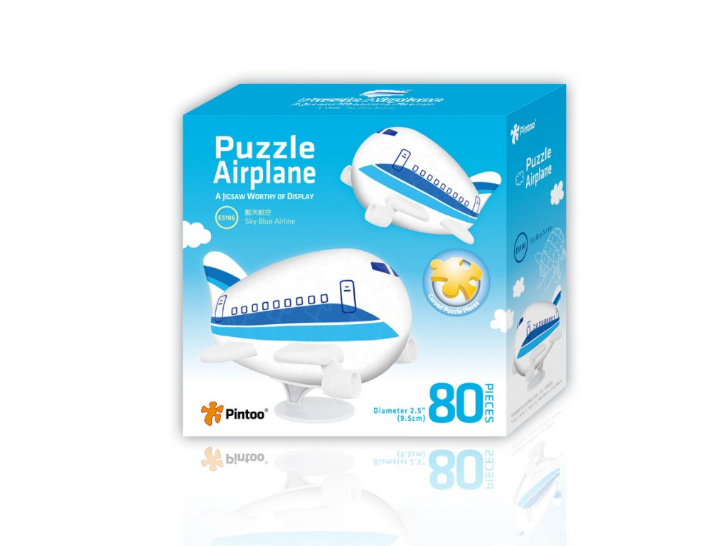 puzzle-3d-avion-sky-blue-airline