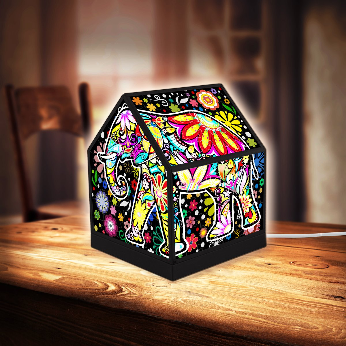 puzzle-3d-house-lantern-cheerful-elephants