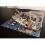 Schreiber-Bogen-3476 Maquette en Carton : Diorama du Port de Hambourg