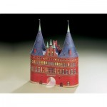Schreiber-Bogen-596 Maquette en carton : Porte de Holstein à Lübeck