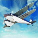 Schreiber-Bogen-610 Maquette en carton : De Havilland DH89 Dragon Rapide
