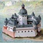 Schreiber-Bogen-670 Maquette en Carton : Château du Palatinat sur le Rhin près de Kaub