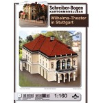 Schreiber-Bogen-674 Maquette en Carton : Théâtre Wilhelma Stuttgart