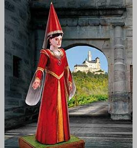 Schreiber-Bogen-744 Maquette en Carton : Kunigunde, Demoiselle du Château