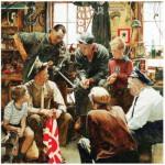 Master-Pieces-71366 Norman Rockwell: Retour à la maison du Marin's