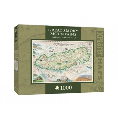 Master-Pieces-71703 Xplorer Maps - Great Smoky Mountains