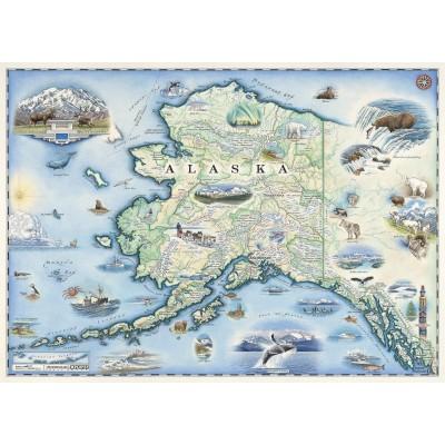 Master-Pieces-71840 Alaska Map