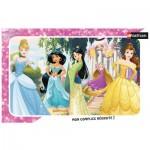 Nathan-86009 Puzzle Cadre - Princesses Disney