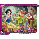 Nathan-86079 Puzzle Cadre - Blanche-Neige en fleur