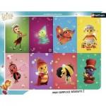Nathan-86124 Puzzle Cadre - Drôles de Petites Bêtes