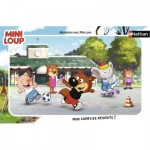 Nathan-86128 Puzzle Cadre - Mini-Loup