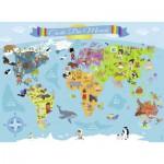 Nathan-86806 Pièces XXL - Carte du Monde