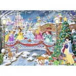 Nathan-87151 Noël avec les Princesses Disney
