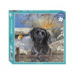 Otter-House-Puzzle-72911 Black Labrador Frosty Morning