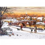 Otter-House-Puzzle-75093 Winter Sunset