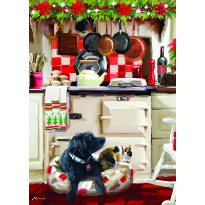 Otter-House-Puzzle-75802 Christmas Kitchen