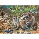 Cobble-Hill-54607 Pièces XXL - Raccoon Family