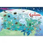 Cobble-Hill-58894 Puzzle Cadre - Carte du Canada