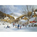 Cobble-Hill-80059 Hockey on Frozen Lake