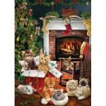 Cobble-Hill-80242 Christmas Kittens