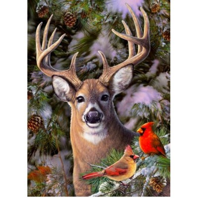 Cobble-Hill-85014 Pièces XXL - One Deer Two Cardinals