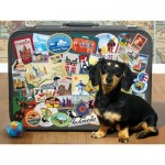 Cobble-Hill-85039 Pièces XXL - Dachshund 'Round the World