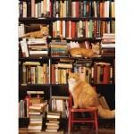 Cobble-Hill-85080 Pièces XXL - Gotham Bookstore Cats
