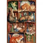 Cobble-Hill-89001 Feline Bookcase