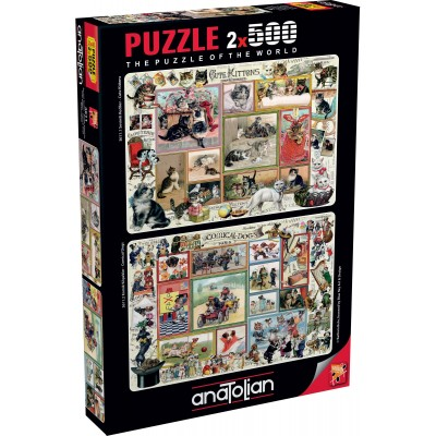 Perre-Anatolian-3611 2 Puzzles - Cute Kittens & Comical Dogs