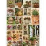 Piatnik-5455 Collage - Fleurs