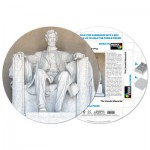 Pigment-and-Hue-RLINC-41201 Puzzle Rond déjà assemblé - The Lincoln Memorial