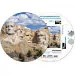 Pigment-and-Hue-RMTRUSH-41219 Puzzle Rond déjà assemblé - Mont Rushmore