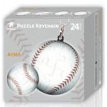 Pintoo-A1365 Porte-clé Puzzle 3D - Balle de Base-Ball