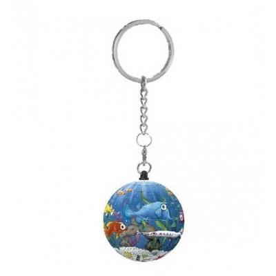 Pintoo-A2803 Porte-clé Puzzle 3D - Aquarium