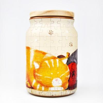 Pintoo-BA1002 Puzzle 3D - Bocal - Take a Nap